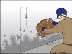 Como impermeabilizar parede interna e externa com umidade