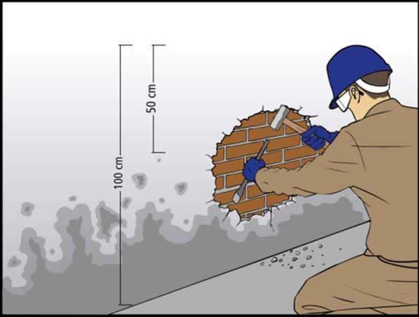 Como impermeabilizar parede interna já pintada com umidade?